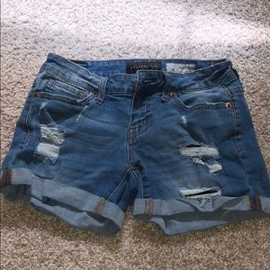 Aeropostale blue jean shorts with rips - size 00